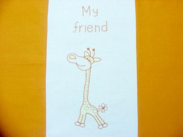 Broderie girafa