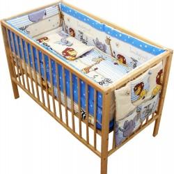Lenjerie patut bebe cu 6 piese Safari