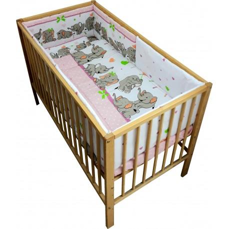 Lenjerie patut bebe cu 5 piese  ursuletul gradinar bej