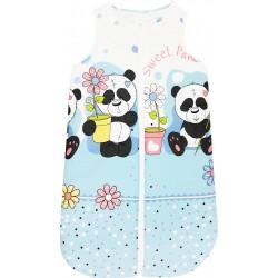 Sac de dormit iarna ursuletul panda albastru