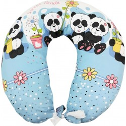 Perna de alaptat cu husa sweet panda albastru