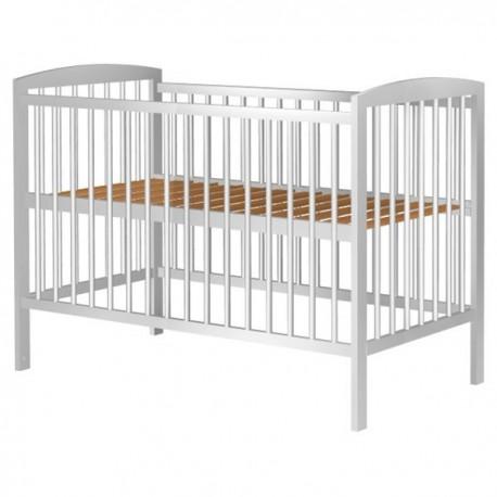 Patut copii din lemn Anzel 120x60 cm alb