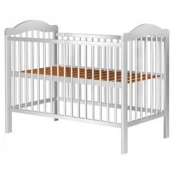Patut copii din lemn Lizett 120x60 cm alb