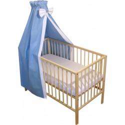Baldachin patut bebe albastru