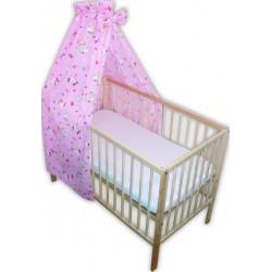 Baldachin patut bebe pisicuta roz