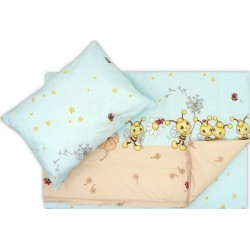 Lenjerie pat copii albinuta