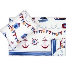 Lenjerie pat copii marinar