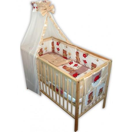 Lenjerie patut bebe cu 7 piese ursuletul gradinar