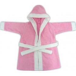 Halat de baie pentru copii roz