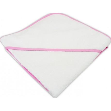 Prosop bebe cu gluga alb cu roz