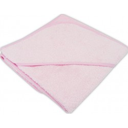 Prosop bebe cu gluga roz