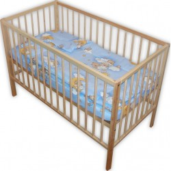 Lenjerie patut bebe cu 3 piese ursuletul somnoros
