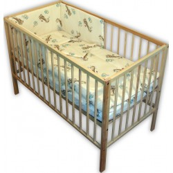 Lenjerie patut bebe cu 4 piese girafe