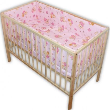 Lenjerie patut bebe cu 5 piese  ursuletul cu miere roz
