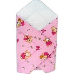 Paturica port bebe ursuletul cu miere roz