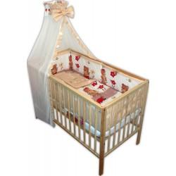 Lenjerie patut bebe cu 6 piese ursuletul gradinar