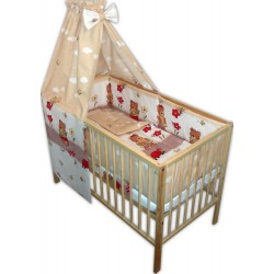 Lenjerie patut bebe cu 6 piese ursuletul somnoros