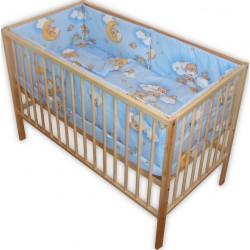 Lenjerie patut bebe ursuletu somnoros albastru
