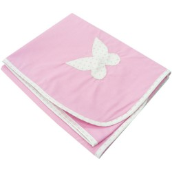 Paturica din bumbac roz fluturas