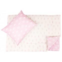 Lenjerie pat copii coronite cu doua fete